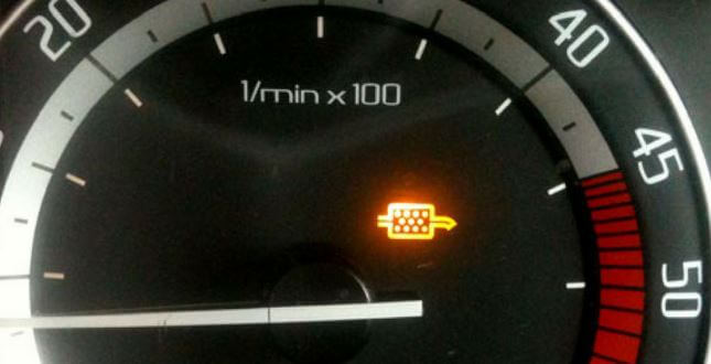 DPF dashboard light